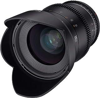 Samyang MF 35mm T1,5 VDSLR MK2 Canon EF – lichtstarkes T1,5 Weitwinkel Cine  und Video Objektiv für Canon EF Mount, 35 mm Festbrennweite, Follow Focus Zahnkränze Vollformat und APS C, 8K Auflösung