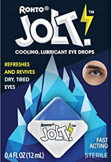 Rohto Jolt Cooling Eye Drops 0.4 fl oz. (Lubricant) (Pack of 2)- relieves and revives dry, tired eyes with its hydrating formula and intense cooling sensation