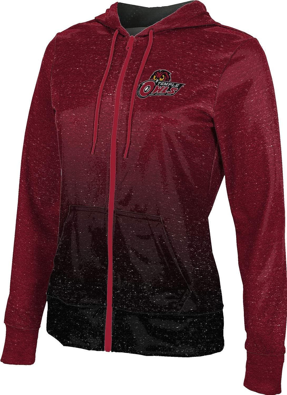ProSphere Temple University Girls' Zipper Hoodie, School Spirit Sweatshirt (Ombre)