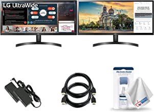 Dual Monitor Bundle - LG 29WL500-B 29`` Class 21:9 UltraWide FHD IPS Monitor with HDR10 + LCD Cleaning Kit, and Electronic...