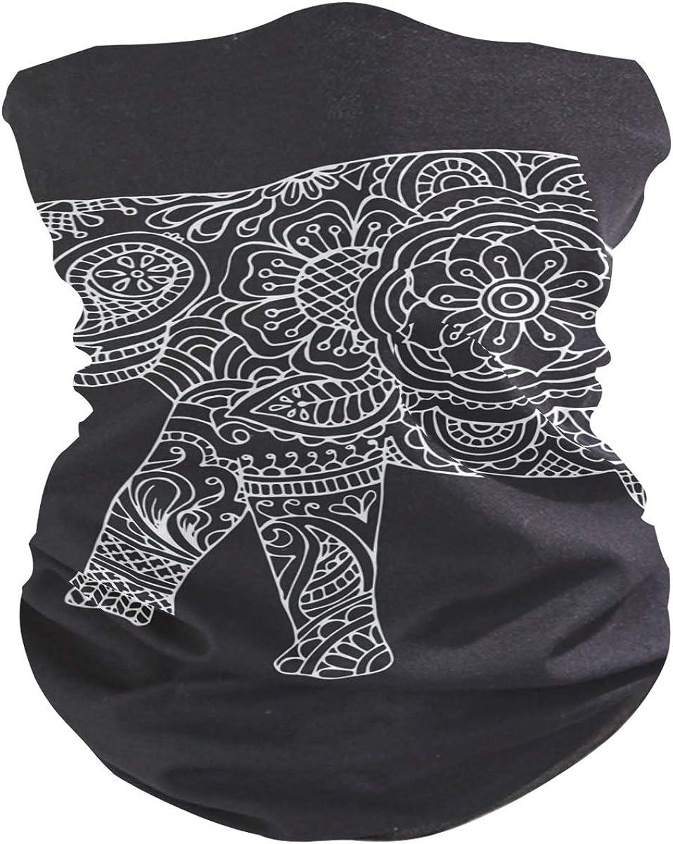 Elephant BlackFace Mask Sun UV Protection Bandana Mask Rave Neck Gaiter Balaclava Headwrap Face Cover Scarf