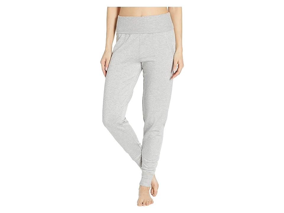 Beyond Yoga Fleece Fold-Over Sweatpants (Light Heather Gray) Women