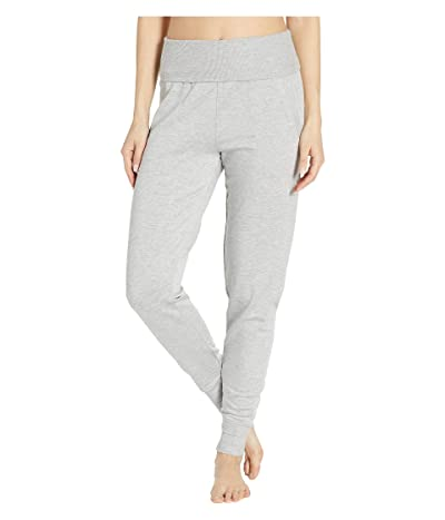 Beyond Yoga Fleece Fold-Over Sweatpants (Light Heather Gray) Women