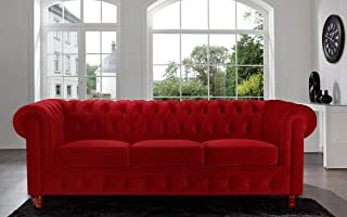 Amazon.com: Red - Sofas & Couches / Living Room Furniture ...
