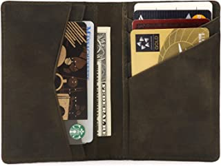 Otto Angelino Genuine Leather Bifold Card and Cash Wallet - Unisex (Olive)