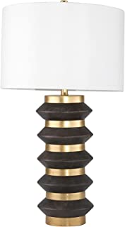 """Sagebrook Home 50005 Brass Stacked Circles Table USB Port, Gold/Black, 31"""" Lamps"""