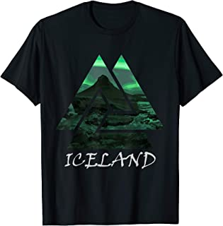 Iceland Northern Lights Triangle T-Shirt, Nature Tee