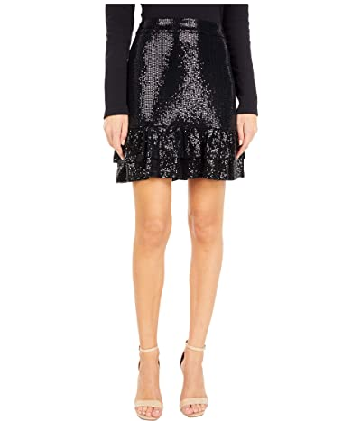 MICHAEL Michael Kors Mirror Dot 2Tier Skirt (Black) Women