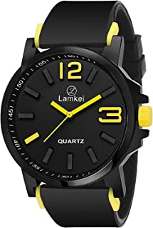 Lamkei Imported Analogue Quartz Black Dial Men's Watch - NLAM-03