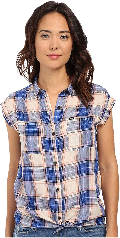 Hurley Women's Wilson Short Sleeve Button Up