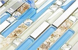 Amazon Com Blue Glass Tiles Tiles Tools Home Improvement
