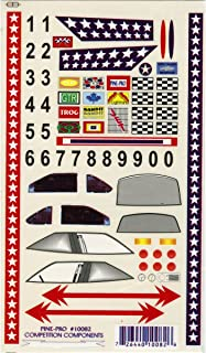 Pine Car Derby Super Stock with Bonus Number Set Decal, 5 by 8-Inch