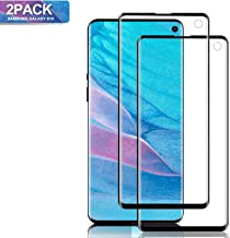 Mighty Compatible [2 - Pack] Samsung Galaxy S10 Tempered Glass Screen Protector, [9H Hardness][Anti-Scratch] [Anti-Fingerp...