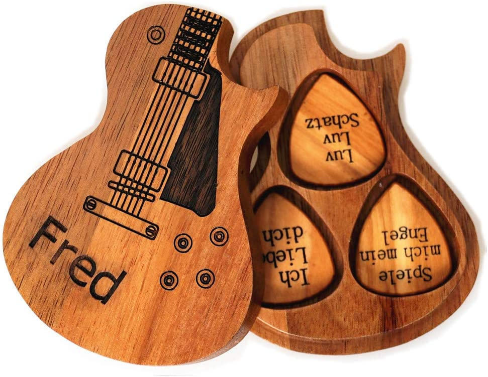 Zakally Ranking TOP10 Personalized Large discharge sale Custom Engraved Guitar Customizable Wooden