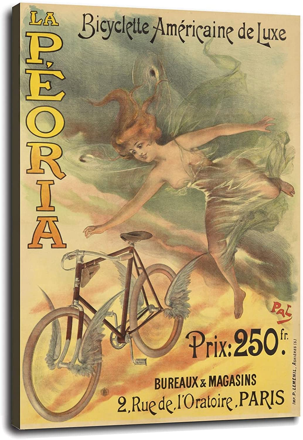 1900 New color La Peoria Bicyclette American Bicycle Vintage French Style Weekly update