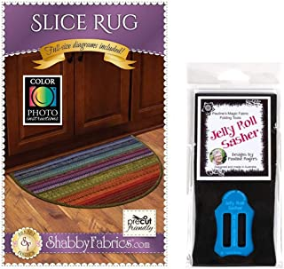 Slice Rug Bundle: Slice Rug Pattern and Pauline's Quilters World Jelly Roll Sasher Tool