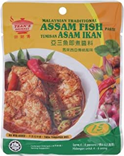 Tean's Gourmet Paste/Sauce 200g (628MART) (Assam Fish Paste, 6 Pack)
