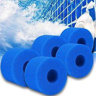 Cartuchos de filtro de esponja tipo S1, para filtro Intex tipo S1, filtro jacuzzi, filtro de jacuzzi Lazy Spa para piscina, filtro reutilizable (5 unidades)