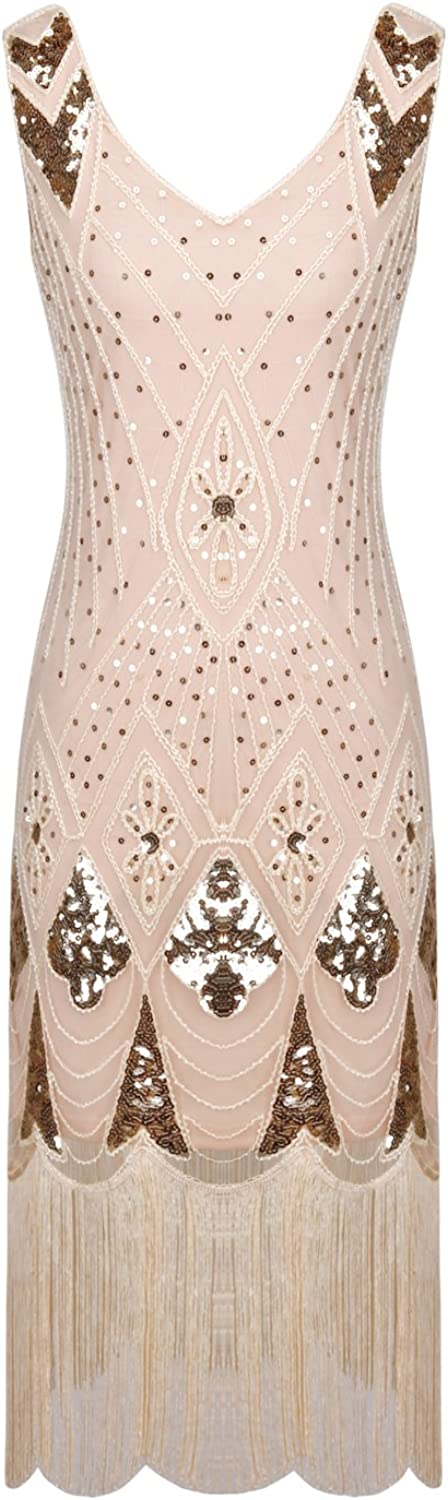 FAIRY COUPLE 1920s Sweetheart Sequined Embellished Long Prom Evening Dress D20S006