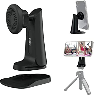 2 in 1 Unique Snap on Magnetic Phone Stand and Tripod Mount, Angle Adjustable Desktop Magnet Smartphone Dock Cradle & Arc...