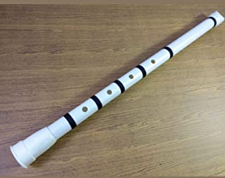 PVC Shakuhachi Japanese Flute 1.8 in D (Urban Model + Binding Black Nylon)