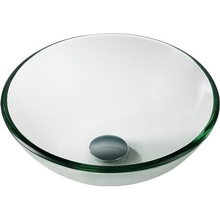 Kraus Gv 101 14 Clear 14 Inch Glass Vessel Bathroom Sink Amazon Com