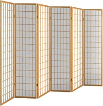 Artiss 6 Panel Room Divider Wooden Folding Privacy Screen, Natural