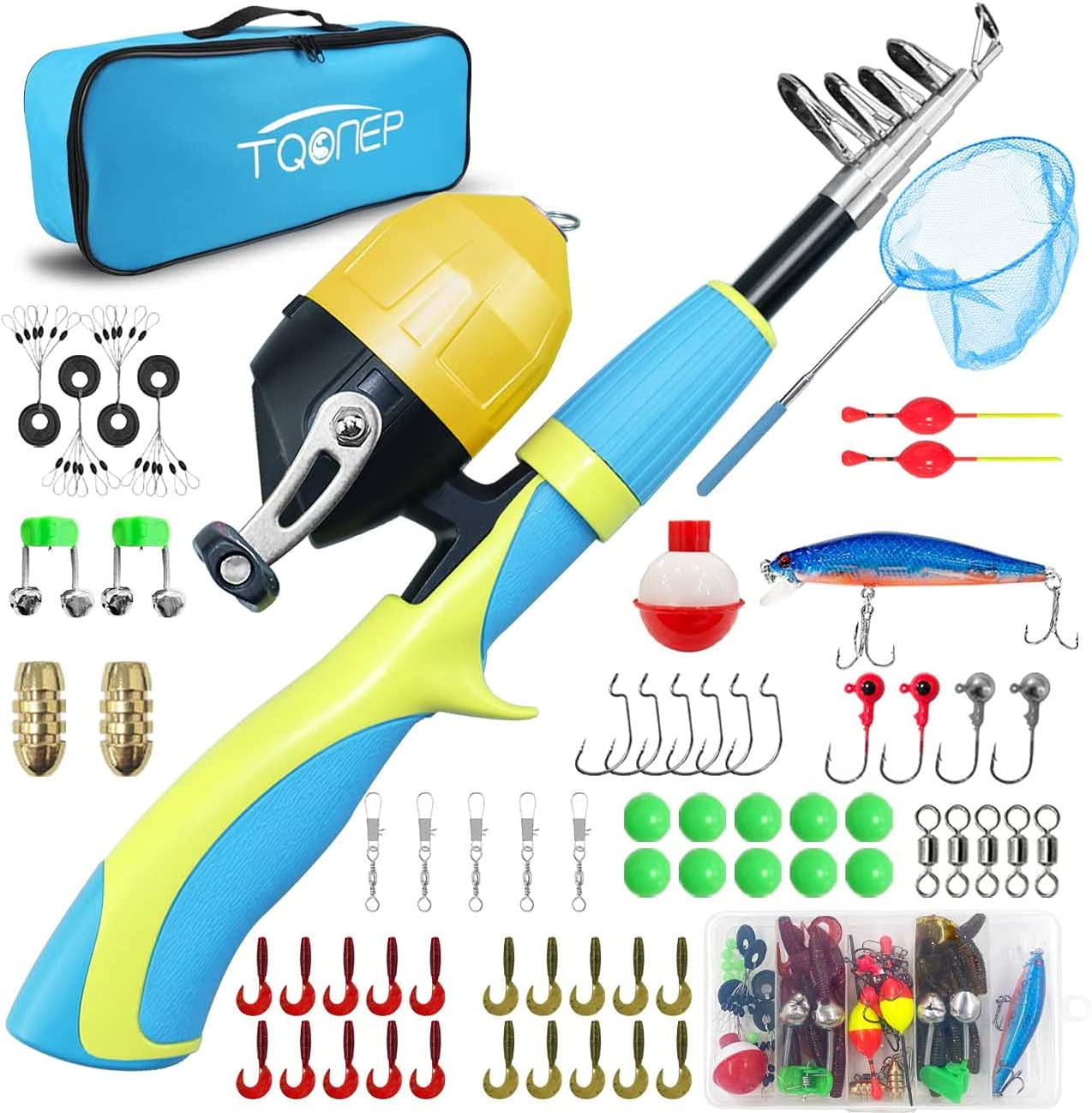Max 75% OFF TQONEP Kids Fishing Poles Portable and 70% OFF Outlet Telescopic Rod Re