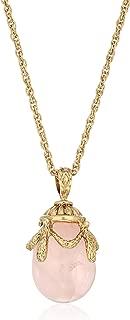1928 Jewelry 14k Gold-Dipped Semi-Precious Egg Pendant Necklace, 30