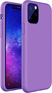 ZUSLAB Nano Silicone Case Compatible with Apple iPhone 11 Pro Shockproof Gel Rubber Bumper Protective Cover - Purple