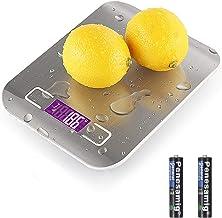 QINREN Balance Alimentaire étanche,Balance de Cuisine de Haute Précision 5kg/1g Balance Alimentaire Électronique écran LCD...