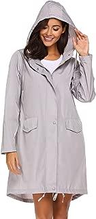 Womens Lightweight Hooded Waterproof Active Outdoor Rain Jacket Windbreaker S-XXL