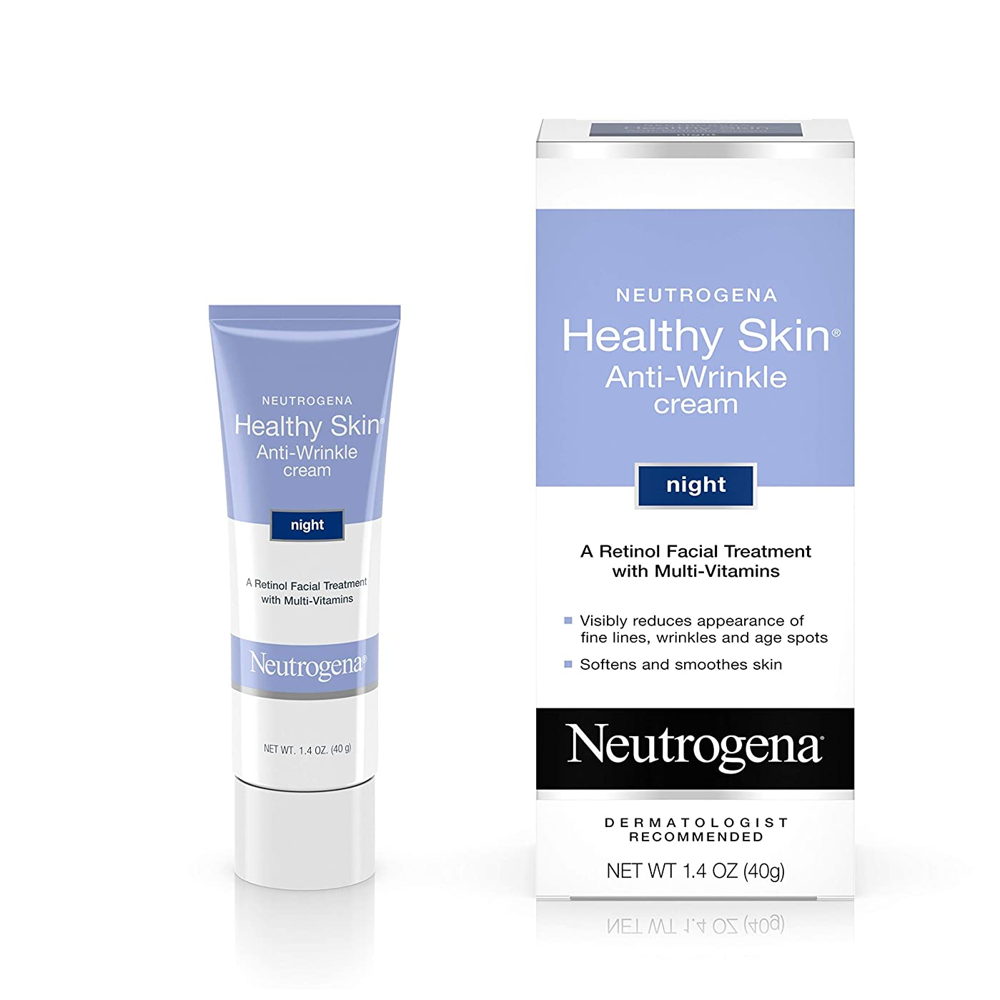 削除するマイナス生産性海外直送肘 Neutrogena Healthy Skin Anti-Wrinkle Night Cream, 1.4 oz