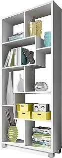 SelectionHome - Estantería librería de diseño Comedor salón Color Blanco Mate Medidas: 685 x 161 x 25 cm de Fondo