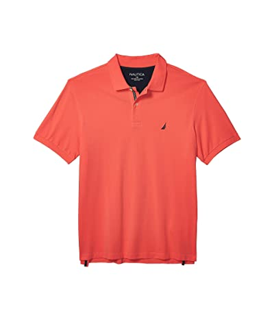 Nautica Big & Tall Big Tall Short Sleeve Solid Deck Shirt (Orange) Men