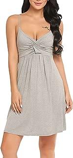 Hotouch Womens Sleepwear Nightgown Full Slips Lace Sling Dress S-XXL