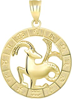Best capricorn gold pendant Reviews