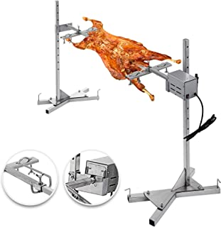 VEVOR BBQ Rotisserie Kit 60-90LB Pig Spit Rotisserie Grill 25W Universal Rotisserie Kit for Grill 48