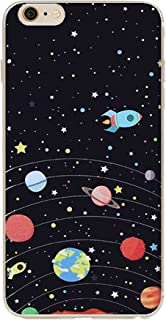iPhone 6s case,Galaxy Planet Design Slim Flexible Clear Bumper TPU Soft Cover for iPhone 6 6s 4.7 inch (Spaceship)