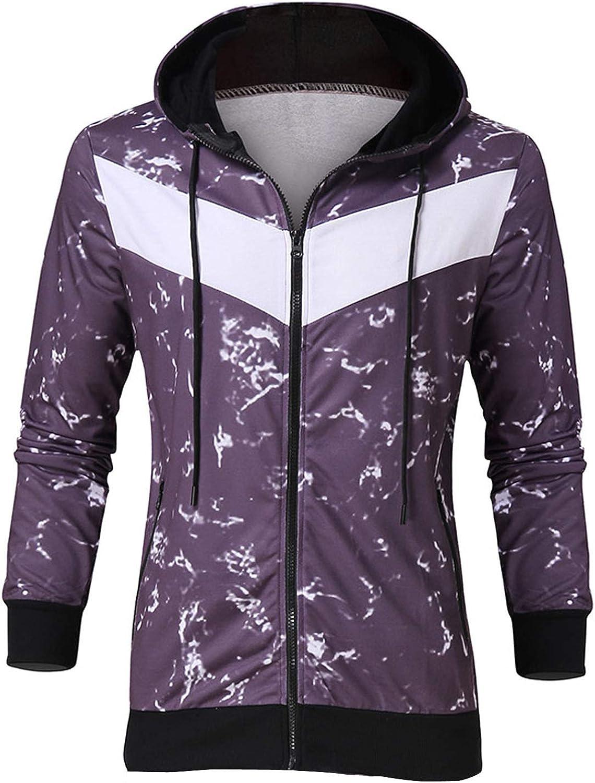7789 Mens Zip Up Track Hoodie Jacket Tie Dye Graphic Sport Hooded Coat Long Sleeve Drawstring Sweatshirts with Pocket