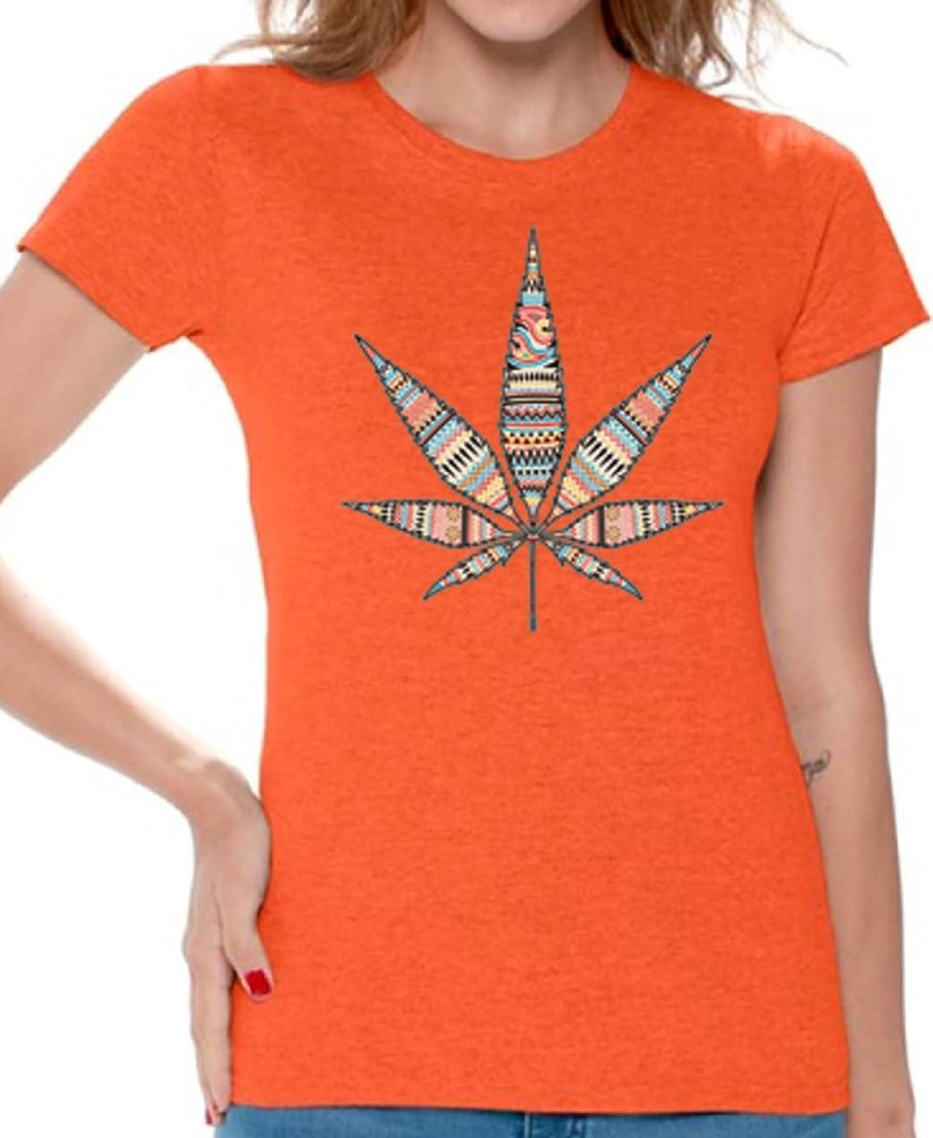 Awkward Styles Women's Marijuana Leaf Cute T Shirts Tee Tops for Women for Cannabis Lovers