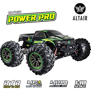 1:10 Scale RC Truck 4x4 - 48+ kmh Speed - Large Scale Remote Control Car - All Terrain Waterproof Radio Controlled 2.4GHz Off Road Electric Monster Truck for Kids and Adults (Lincoln, NE USA Company)