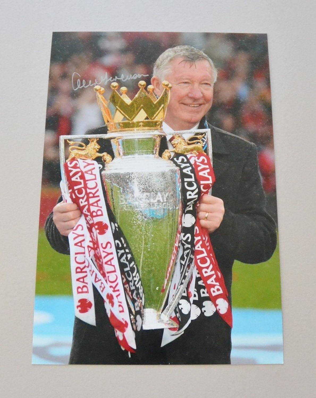 Sir Alex Ferguson Signed 12x8 Photo Manchester United Autograph Memorabilia +COA