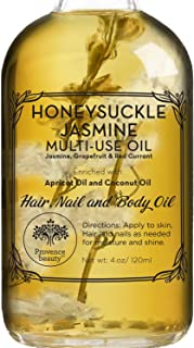 Honey Suckle Jasmine Multi-Use Oil for Face, Body & Hair - Hydrates Skin & Restores Hair's Natural Shine - Enriched with A...