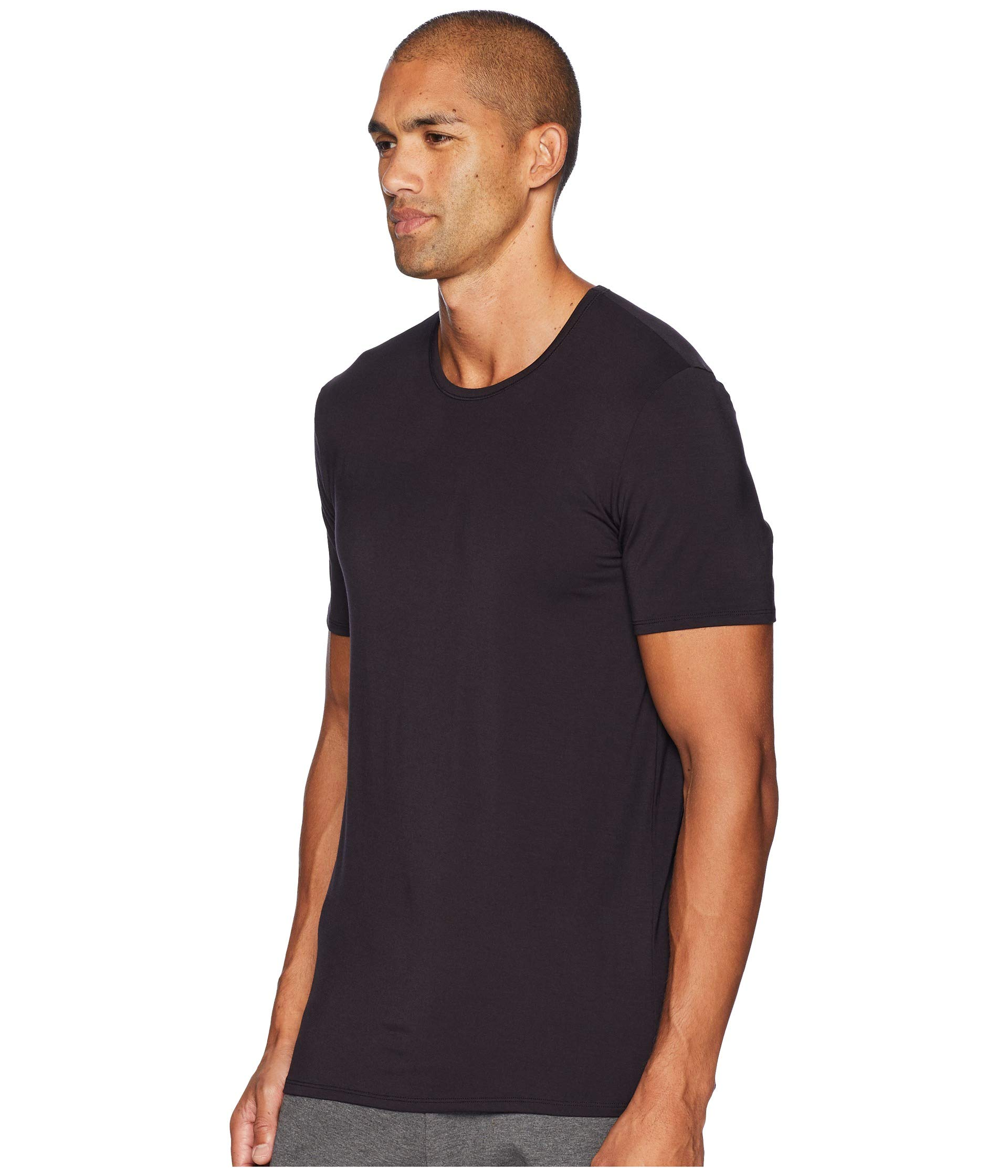Jockey T Essential Supersoft shirt Fit Neck Black Modal Crew PrPvYqwx