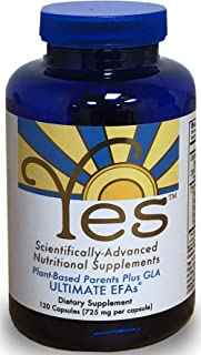 Yes Parent Essential Oils ULTIMATE EFAs 120 Capsules, Based On The Peskin Protocol, Plant Based Organic Ingredients, Omega 3 6, Vegetarian So No Fishy Aftertaste, Keto Friendly (Reduces Carb Cravings)