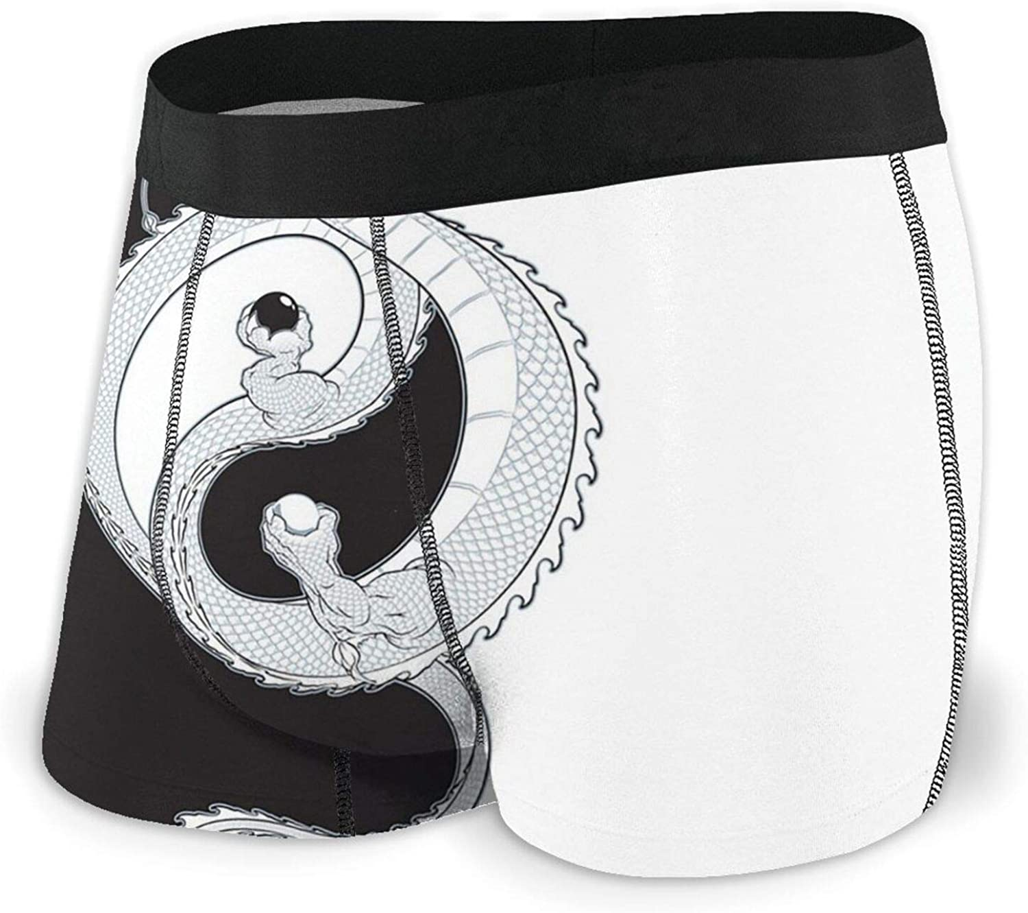 Yin Yang Dragon Men's Large-scale sale Boxer Breathable Columbus Mall Comfortable Underw Briefs