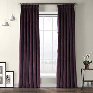 HPD Half Price Drapes VPYC-181428-108 Heritage Plush Velvet Curtain, 50 X 108, Omega Purple