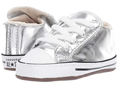 Converse Kids Chuck Taylor(r) All Star(r) Cribster Metallic Canvas Mid (Infant/Toddler) (Metallic Granite/Natural Ivory/White) Girls Shoes