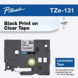 Brother Genuine P-touch TZE-131 Tape, 1/2